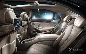 Picture Mercedes-Benz, Salon, 2013, S-Class, A number of rear seats