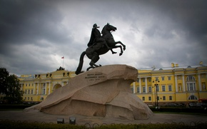 Wallpaper Saint Petersburg, the bronze horseman, Peter, monument, Peter