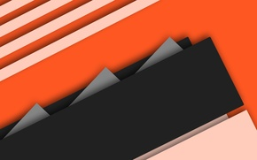 Picture line, orange, grey, geometry, material