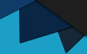 Picture blue, abstraction, blue, black, colors, geometry