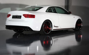 Picture white, Audi, audi, red, white, wheels, drives, senner tuning