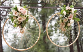 Picture ring, wedding, wheel, bouquets