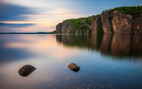 Picture forest, mountains, nature, lake, rocks