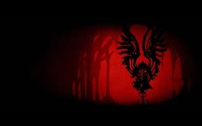Picture Minimalism, Red, Art, Art, Black, Minimalism, Legend Of The Guardians