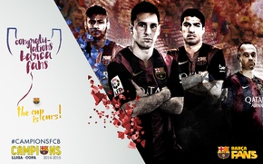 Picture wallpaper, sport, football, FC Barcelona, Spanish Cup Winners