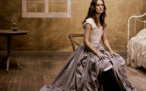 Wallpaper room, retro, Vogue, actress, model, Keira Knightley, Keira Knightley, brunette, Mikael Jansson, photographer, dress