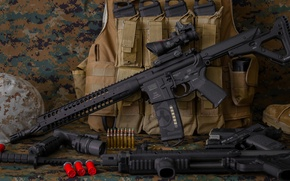 Picture weapons, rifle, carabiner, assault, LWRC M6