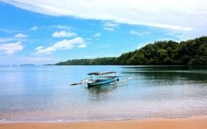 Picture sea, boat, Philippines