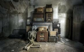 Picture radio, skeleton, Meloman, receivers
