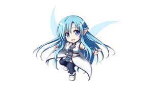 Picture sword, game, anime, chibi, fairy, wings, blue eyes, pretty, asian, cute, manga, japanese, Yuuki Asuna, …