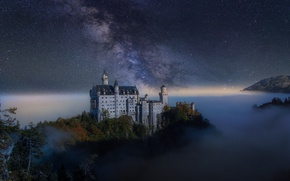 Picture the milky way, Germany, the sky, night, castle