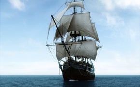 Wallpaper travel, ship