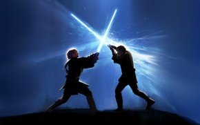 Wallpaper fight, star wars, lightsabers
