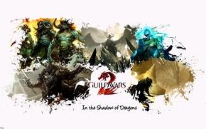 Picture game, warrior, helmet, armor, heroes, Guild Wars 2, centaur, Archer, mmorpg