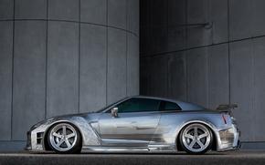 Wallpaper Kuhl, side, Racing, view, Nissan, GTR