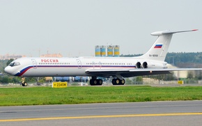 Picture airport, Russia, the plane, OKB, Ilyushin, WFP, The Il-62, The airline