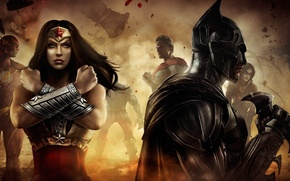 Picture girl, Batman, characters, comic, Gods Among Us, Injustice