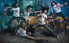 Picture group, metal, metal, band, death, metalcore, deathcore, metalcore, melodic, Danny Marino, the agonist, Alissa White-Gluz, …