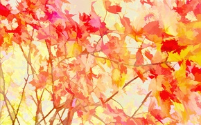 Picture leaves, background, texture
