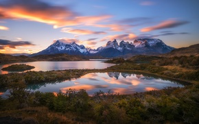 Picture lake, Chile, South America, Patagonia, the Andes mountains