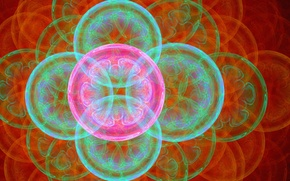 Picture circles, flowers, abstraction, bubbles, background, figure, graphics, ball, fractal
