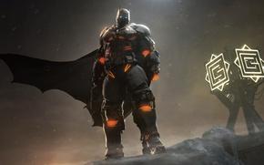 Picture wallpaper, gun, pistol, logo, Batman, blizzard, weapon, snow, man, bat, nanosuit, hero, yuki, DLC, mask, …