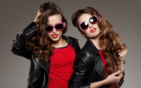 Picture style, girls, hair, lipstick, glasses, face, model, beauty, curls, photoshoot, jackets