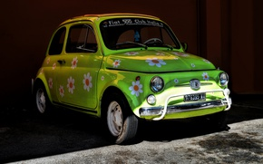 Picture machine, background, Fiat 500