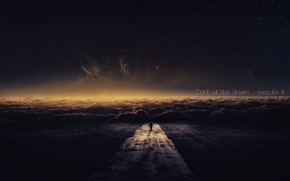 Picture road, the sky, stars, people, sleep
