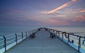 Picture sea, landscape, bridge