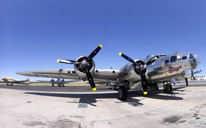 Wallpaper Boeing, flying fortress, B-17G