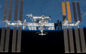 Picture earth, space, ISS, cosmos, International Space Station, orbit, solar, artificial satellite