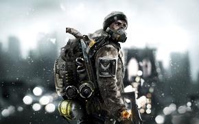 Wallpaper Winter, The city, Snow, Light, Apocalypse, Weapons, New York, New York City, Ubisoft Entertainment, Tom ...