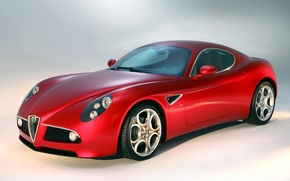 Picture Alfa Romeo, red, Car, tuning, front, Super, chrome