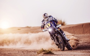 Picture Sand, Sport, Speed, Skid, Day, Motorcycle, Racer, Moto, Rally, Dakar, Equipment