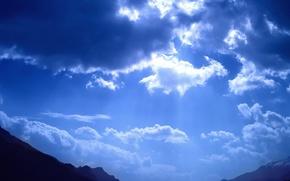 Wallpaper light, mountains, Clouds