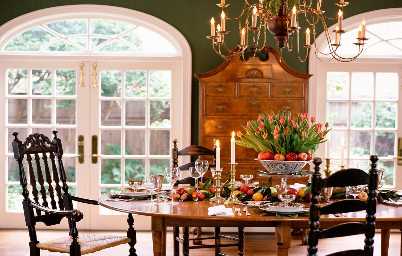 Photo wallpaper design, house, style, room, Villa, interior, dining room