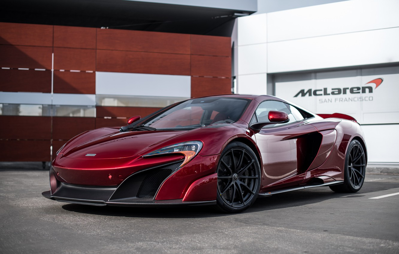 Photo wallpaper McLaren, red, san francisco, 675LT