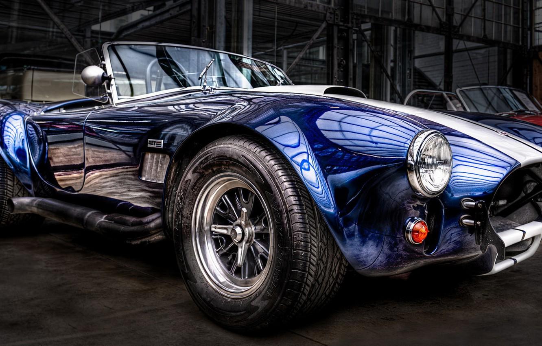 Photo wallpaper Cobra, Cabrio, Classic Car, Blue