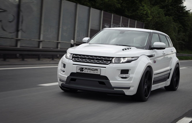 Photo wallpaper auto, tuning, Land Rover, Range Rover, front view, Evoque, Prior-Design, PD650