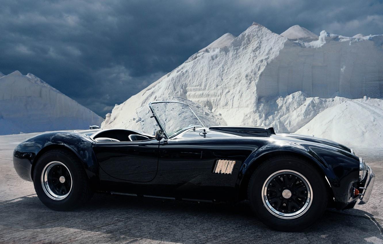 Photo wallpaper black, roadster, sports car, AC Shelby Cobra
