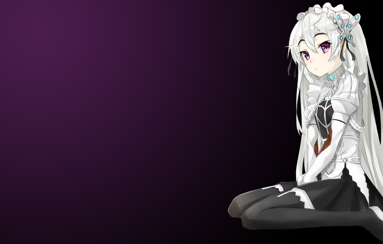 Photo wallpaper girl, background, sitting, barrette, Chaika the coffin, Hitsugi no Chaika, Chaika Trabant