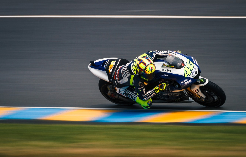 Photo wallpaper track, Moto, turn, motorcycle, racer, Valentino Rossi, Valentino Rossi, speed., The Doctpr, Moto Grand Prix, …