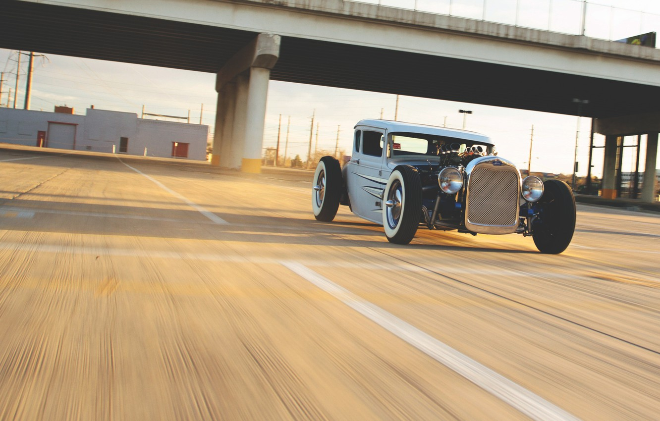 Photo wallpaper ford, Ford, hot rod, hotrod, motion