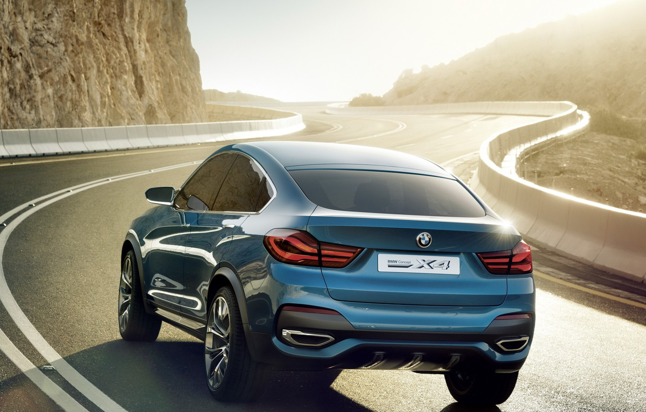 Photo wallpaper road, Concept, BMW, the concept, rear view