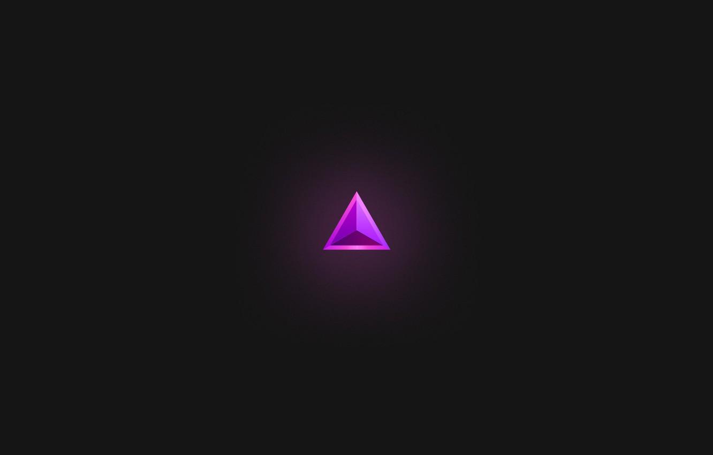 Photo wallpaper purple, minimalism, triangle