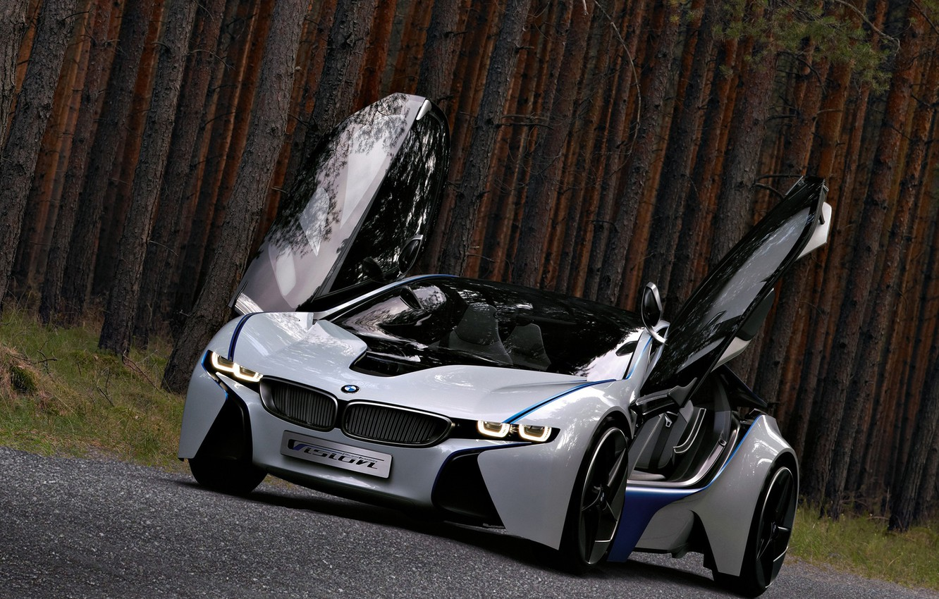 Photo wallpaper Concept, BMW, the concept, Vision, beautiful, the front, powerful, EfficientDynamics