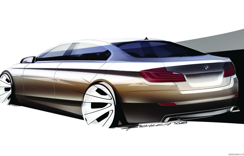 Photo wallpaper car, machine, BMW, sketch