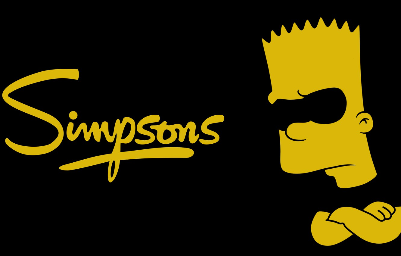 Wallpaper The Simpsons Minimalism Black Yellow Simpsons