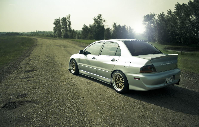 Photo wallpaper drives, cars, auto, tuning, evolution, evo 8, mitsubishi lancer, sportcars, tuning cars, casting, BBS